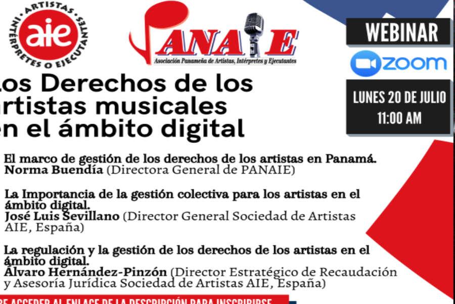 LISTADO DE WEBINARS DE PANAIE